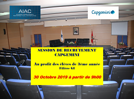 AIAC_CAPGEMINI – Session de recrutement