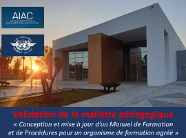 Validation de la nouvelle mallette pédagogique de l'AIAC par l'OACI