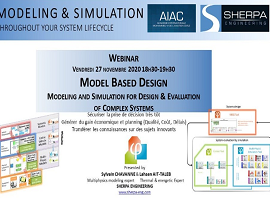 Webinar « Model Based Design- Modeling and Simulation for Design & Evaluation of Complex Systems »